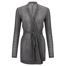 Buy Ghost Dita Wrap Cardigan, Charcoal Online at johnlewis.com