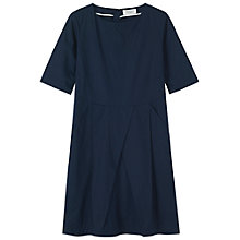 Buy Toast Elin Poplin Dress, Navy Online at johnlewis.com