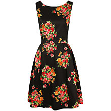Buy Louche Floral Dress, Black Online at johnlewis.com