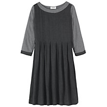 Buy Toast Lore Pleat Dress, Dark Grey Online at johnlewis.com