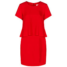 Buy BOSS Damilira Dress, Bright Red Online at johnlewis.com