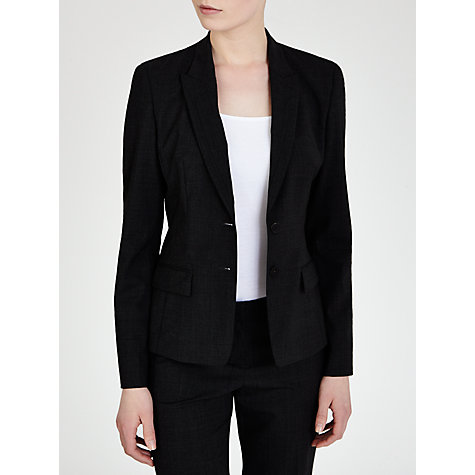 Buy BOSS Jaellesa Jacket, Charcoal Online at johnlewis.com