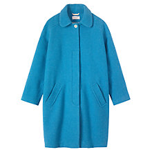 Buy Toast Cocak Nika Pleat Coat, Sky Blue Online at johnlewis.com
