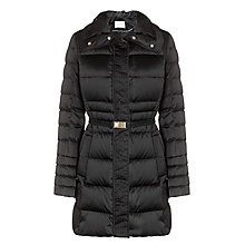 Buy BOSS Pidenia Quilted Coat, Black Online at johnlewis.com