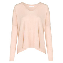 Buy BOSS Cashmere V-Neck Knitted Jumper, Beige Online at johnlewis.com