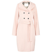 Buy BOSS Double Breasted Wool Coat, Beige Online at johnlewis.com
