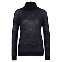 Buy Farhi by Nicole Farhi Mohair Polo, Black/Navy Online at johnlewis.com