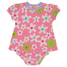Buy Hatley Baby Flower Print Bodysuit, Pink Online at johnlewis.com