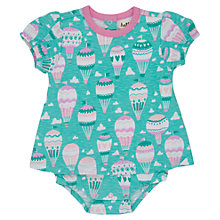 Buy Hatley Baby Balloon Print Bodysuit Dress, Turquoise Online at johnlewis.com