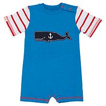 Buy Hatley Baby 'Whale of a Tail' Romper, Blue Online at johnlewis.com