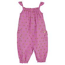 Buy Hatley Baby Heart Print Playsuit, Pink Online at johnlewis.com