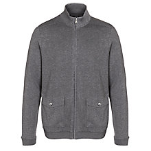 Buy BOSS Pacentro Full Zip Cardigan, Charcoal Online at johnlewis.com