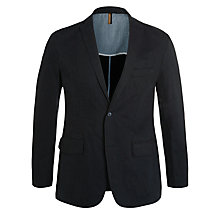 Buy BOSS Black Morell Cotton Blazer, Navy Online at johnlewis.com