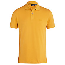 Buy BOSS Firenze/Logo Modern Essential Polo Shirt, Orange Online at johnlewis.com