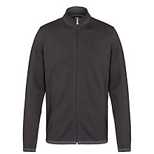 Buy BOSS Fossa Zip Cotton Jumper, Black Online at johnlewis.com