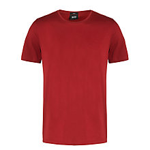 Buy BOSS Basic Branded Short Sleeve T-Shirt, Red Online at johnlewis.com