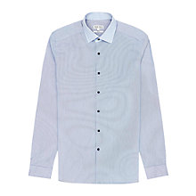 Buy Reiss Cruz Striped Contrast Collar Shirt, Sky Blue Online at johnlewis.com