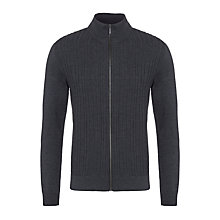 Buy BOSS Dwane Merino Wool Cardigan, Charcoal Online at johnlewis.com