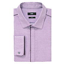 Buy BOSS Robertino Long Sleeve Shirt, Purple Online at johnlewis.com