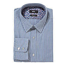 Buy BOSS Lucas Stripe Shirt, Navy Online at johnlewis.com