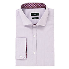 Buy BOSS Leroy Fine Stripe Shirt, Purple Online at johnlewis.com