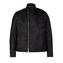 Buy Barbour International Tirril Asymmetric Racer Jacket, Black Online at johnlewis.com