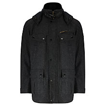 Buy Barbour International Allenwood Parka Jacket, Charcoal Online at johnlewis.com