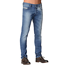 Buy Diesel Tepphar 0609R Slim Carrot Jeans, Mid Wash Online at johnlewis.com
