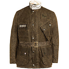Buy Barbour International Steve McQueen™ Collection Antique Bration Waxed Cotton Jacket, Olive Online at johnlewis.com