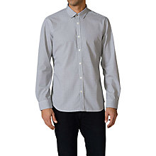 Buy Diesel S-Milla Long Sleeve Shirt,  White / Navy Online at johnlewis.com