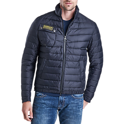 Barbour International Chain Quilted Baffle Jacket Black