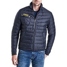 Buy Barbour International Chain Quilted Baffle Jacket, Black Online at johnlewis.com