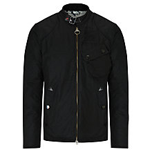 Buy Barbour International Steve McQueen™ Collection Bonner Waxed Biker Jacket, Black Online at johnlewis.com