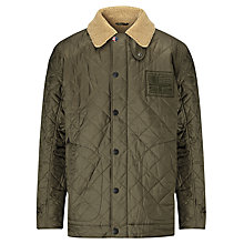 Buy Barbour International Steve McQueen™ Collection Pebbels Quilted Jacket, Olive Online at johnlewis.com