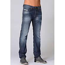 Buy Diesel Buster Regular Slim Tapered Jeans, Light Wash Online at johnlewis.com