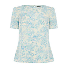 Buy Oasis Provence Floral T-shirt, Multi White Online at johnlewis.com
