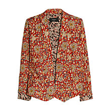 Buy Mango Open Front Printed Blazer, Dark Beige Online at johnlewis.com