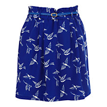 Buy Oasis Flock of Birds Skirt, Multi Blue Online at johnlewis.com