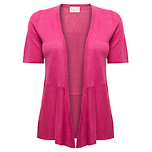 Buy East Short Sleeve Linen Cardigan, Azalea Online at johnlewis.com