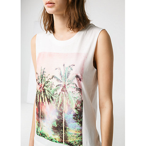 Buy Mango Printed Image T-Shirt, Natural White Online at johnlewis.com