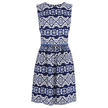 Buy Oasis Stripe Dress, Multi Blue Online at johnlewis.com