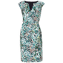 Buy Adrianna Papell Watercolour Floral Printed Sheath Dress, Blue Multi Online at johnlewis.com