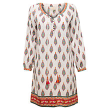 Buy East Kendra Scoop Neck Tunic Top, White / Multi Online at johnlewis.com