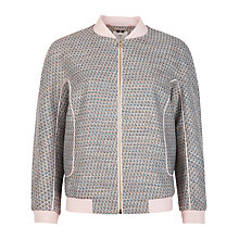 Buy Ted Baker Talitha Tweed Bomber Jacket, Navy Online at johnlewis.com