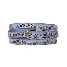 Buy White Stuff Periwinkle Daisy Chain Belt, Periwinkle Online at johnlewis.com
