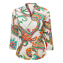 Buy East Festival Paisley Shirt, White / Multi Online at johnlewis.com