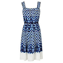 Buy Adrianna Papell Cut Out Neckline Dress, Blue Multi Online at johnlewis.com