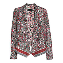 Buy Mango Open Front Printed Blazer, Natural White Online at johnlewis.com