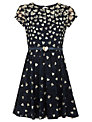 Yumi Girl Lace Hearts Dress, Navy