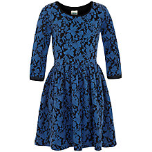Buy Yumi Girl Textured Butterfly Jersey Dressm Blue Online at johnlewis.com
